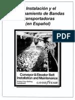 BANDAS TRANSPORTADORAS, Instalacion y Mantenimiento