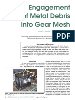 Enagement of Metal Debris in Gears