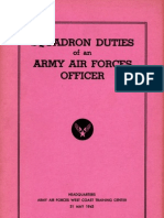 WWII Air Force Squadron Officer Duties