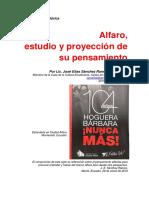 Alfaro, estudio y proyección de su pensamiento 2016