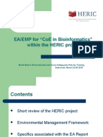 "EA/EMP for ""CoE in Bioinformatics""  within the HERIC project"