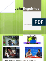 Chapter 4- Psycholinguistics