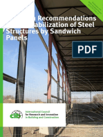 STABILIZATION OF STEEL STRUCTURES BY SANDWICH PANELS