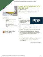 Crema Pastelera Hecha en El Microondas ... de La Dulce Pasion de David - Cookpad