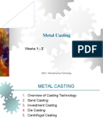 Metal casting lectures notes