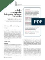 Enfermedades Inflamatorias Laríngeas y Faríngeas Del Adulto