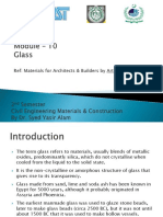 Module - 10 Glass