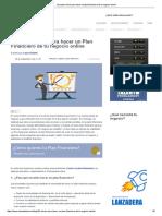 10 Puntos Clave Para Hacer Un Plan Financiero de Tu Negocio Online