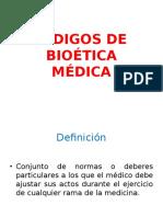 Códigos de Bioética Médica