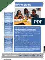 Listado de cursos para profesores de español 2016