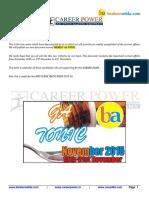 Weekly Tonic 15 -21 November career power