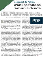 30-01-16 Destinarán los fondos del Fortamun a deuda