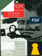 Immanuel Wallerstein Abrir Las Ciencias Sociales