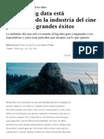 Cómo la industria del cine está usando el big data