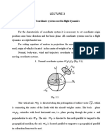 Coordinate systems used in flight dynamics