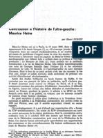 Henri Dubief - Contribution à l'histoire de l'ultra-gauche