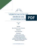 Informe de Verificación de Muros de Contencion a Gravedad