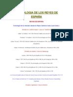 Cronologia de Los Reyes de España