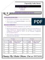 Notes Chapter 8 Transition chemistry