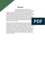 Palaungic Phonology