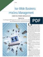 Enterprise-Wide Business Process Management Drives Performance