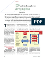 ISO31000:2009 and Principles for Managing Risk