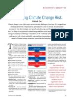 Managing Climate Change Risk