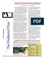 WCAS Feathered Flyer Newsletter Aug - Oct 2013