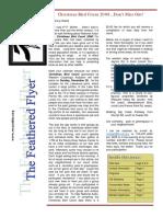 WCAS Feathered Flyer Newsletter Nov 2008 - Jan 2009
