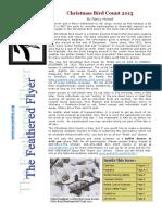 WCAS Feathered Flyer Newsletter Nov 2013 - Jan 2014