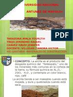 Diapositiva de Arcilla