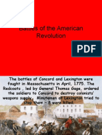 ppt battles of the american revolution