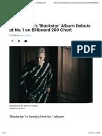David Bowie's 'Blackstar' Album Debuts at No. 1 on Billboard 200 Chart | Billboard
