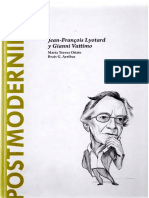 40. Oñate, M.T. y Arribas, B.G. - Postmodernidad. Jean-François Lyotard y Gianni Vattimo