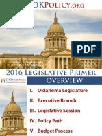 2016 Oklahoma Legislative Primer
