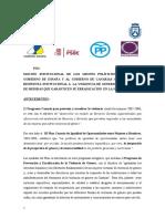 Violencia de Género, Acuerdo institucional Cabildo Tenerife (Moción de Podemos, pleno 27.11.15)