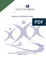 Dislexia and Matematics