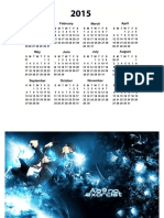 Kalender 2015 Nomal Ao No Exorcist