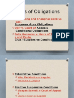 Kinds of Obligations