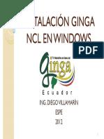 Instalación Ginga Ncl en Windows