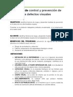 Proyecto de control y prevención de los defectos visuales