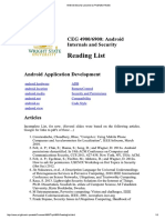 REading List Android Security Lectures by Prabhaker Mateti