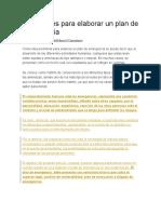 FORMULA DESALOJO Parámetros Para Elaborar Un Plan de Emergencia