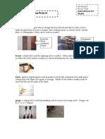 Vocabulary Print Making Project