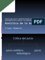 Critica Del Jucio, Lo Bello y Lo Sublime