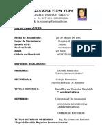 Curriculum Isabel Yupa Yupa.actualizado