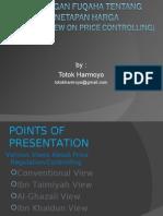Price Controlling in Islamic Economics