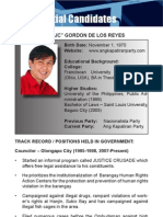 [Philippine Elections 2010] Delos Reyes, JC Profile