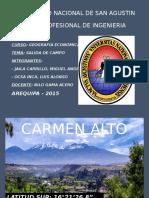 INFORME SALIDA A CAMPO CARMEN ALTO, CHARCANI, YURA , TIABAYA