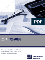 Professionals Australia Tax Guide 2013 14 WCover2